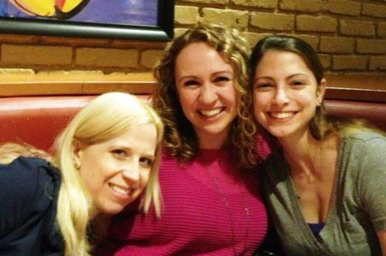"""The """"dirty"""" pic ;) with Em, Me and Kara"""