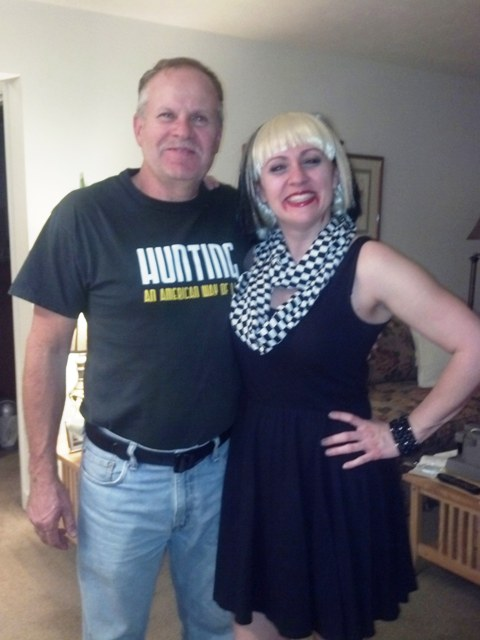 Me and my Dad. On my way to a different Halloween party. I'm a skapire-nobody at the party got it either. Don't worry.